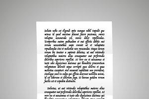 Handwrite letter on latin