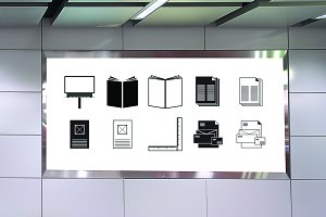 Advertising Icon Set