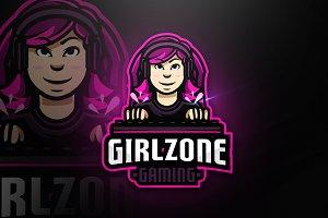 Girlzone Gaming-Mascot & Esport Logo