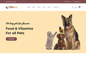 Marten - Pet Food eCommerce Template