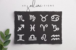 Hand-drawn Zodiac Signs