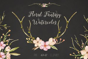 Floral Fantasy Watercolor