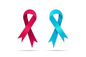 Two ribbons for world cancer day