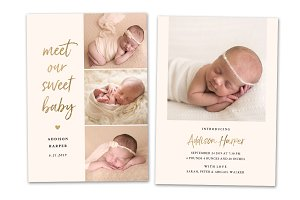 Birth Announcement Template CB136