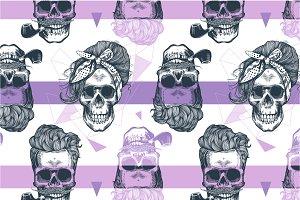 Skull. Seamless pattern