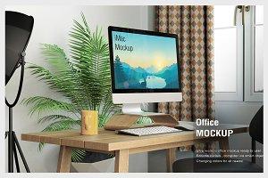 iMac Home Office Mockup