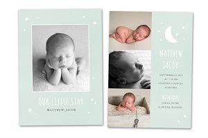 Birth Announcement Template CB135