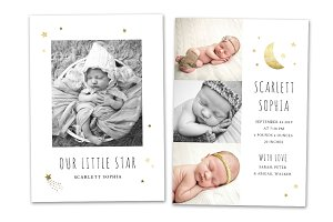 Birth Announcement Template CB134