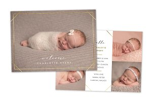 Birth Announcement Template CB133