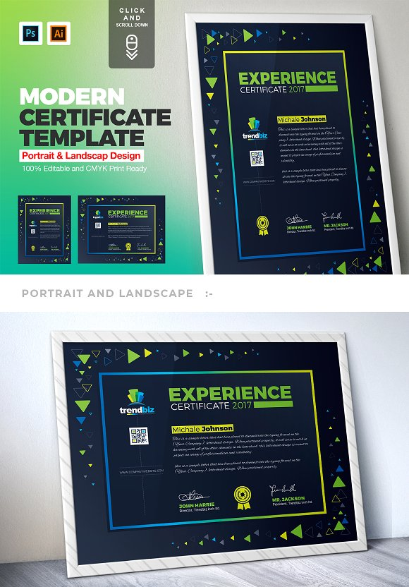 Certificate Template Bundle Stationery Templates Creative Market