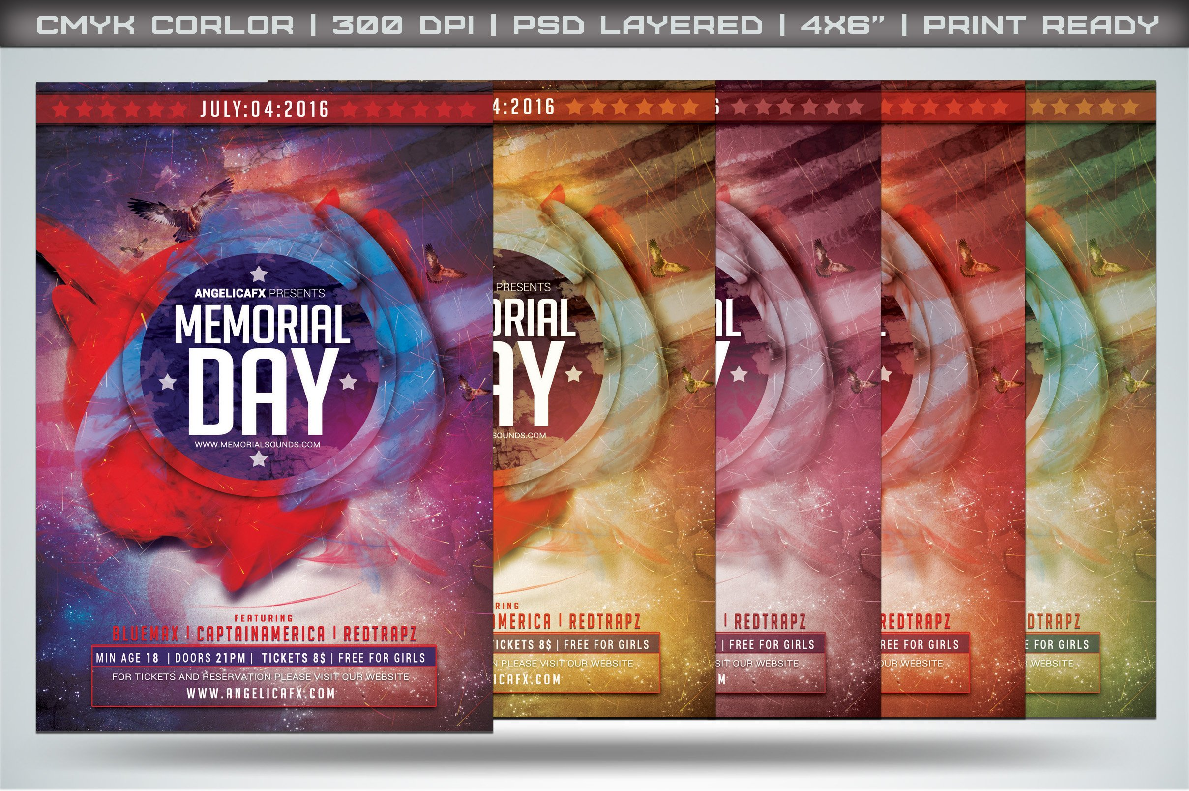 Memorial Day Flyer Template Flyer Templates Creative Market – Memorial Day Flyer Template