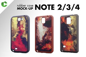 Note 2/3/4 rubber case mock-up
