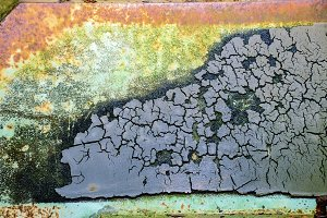 Old colorful metal texture