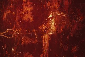 Old, scratched red metal texture