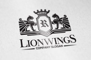Lion Wings Logo Template