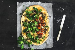 Rustic homemade pizza