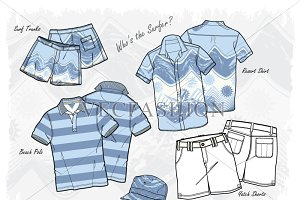 Men Who's the Surfer? Fashion Set