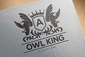 Owl King Logo Template