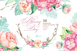 Bloomy Day. Floral Collection