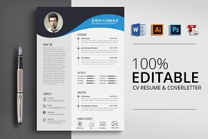 Clean Ms Word CV Resume Template