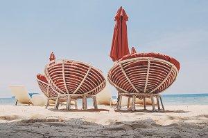 Comfy beach shairs