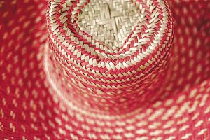 Traditional Colorful Straw Hat