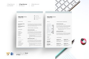 5 Page Resume. CV Template. Resume