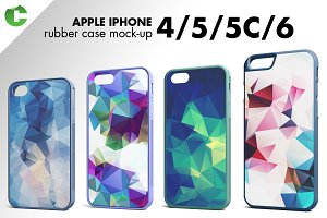 Iphone 4/5/5C/6 rubber case mock-up