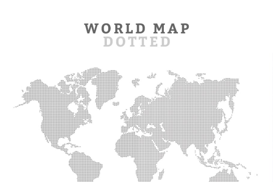 World Map Vector Web Elements Creative Market
