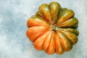 Large ripe organic pumpkin