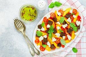 Delicious summer tomato salad