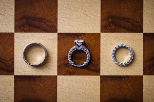 Wedding Rings on a Checkerboard