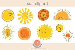 vintage sun clip art graphics