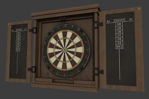 Dartboard Cabinet and Darts