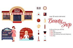 Beauty Shop Flat Set