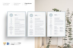Resume. CV Template Design