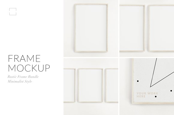 Customizable Frame Mockup Bundle