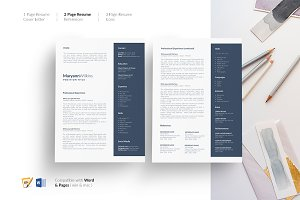 CV Design. Resume Design. Template