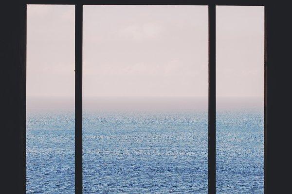 Architecture Stock Photos - Seascape windows view