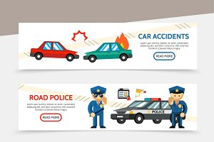 Auto accident horizontal banners