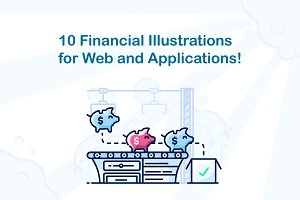 10 Finance Themed Web Illustrations