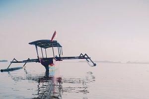 Catamaran During Serene Sunrise