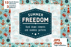 Summer Freedom patterns and elements