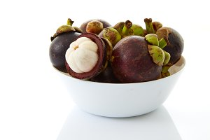 Mangosteen in bowl
