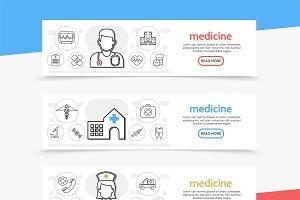Medicine horizontal banners