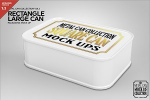 Large Rectangle Tin Packaging Mockup
