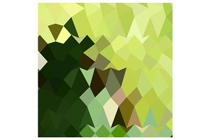 Apple Green Abstract Low Polygon Bac