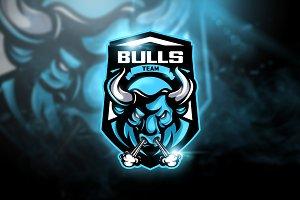 Bulls Team - Mascot & Esport Logo