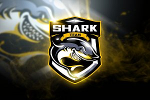 Shark Team - Mascot & Esport Logo
