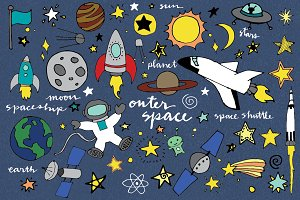 Hand Drawn Outer Space Illustrations